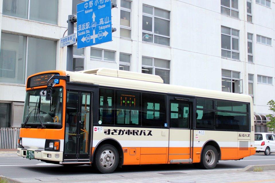 長電バス か977