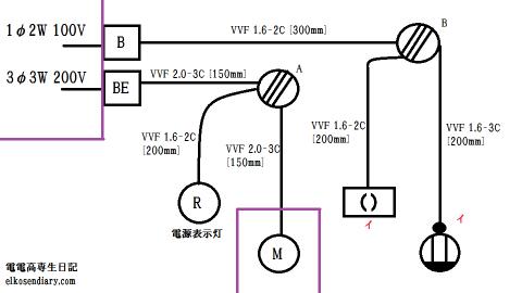 平成26年上記第二種電気工事士技能試験問題 単線図