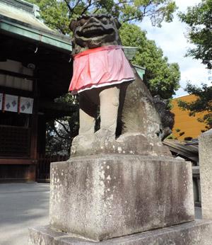 茨木神社狛犬blog01