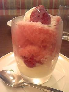「苺のグラニータ」ロイヤルホスト