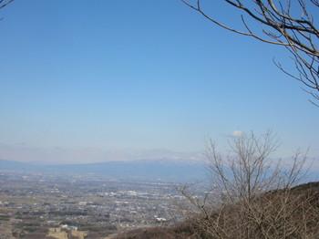 10キロ付近、向こうに赤城山