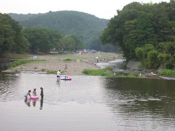 高麗川の川遊び
