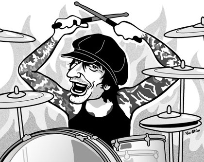 Tommy Lee Motley Crue caricature