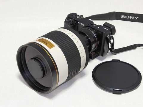 『ミラーレンズ800mm F8 DX』+『Tマウント ソニーNEX(α E)用』+『α6000』