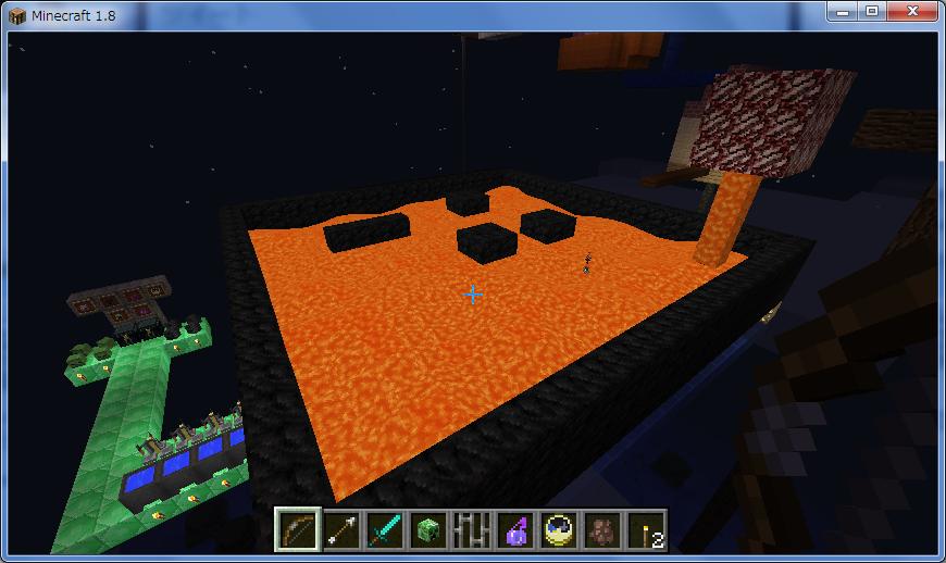 マインクラフト 溶岩の溢れる処刑用プール