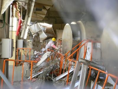 福島第1原発・乾式貯蔵施設(11年3月)