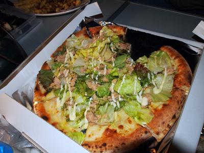 ツナのピザ