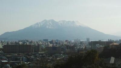 3月9日の桜島冠雪