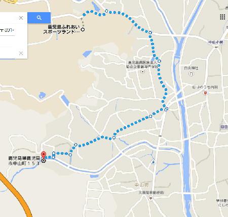 中山の滝の地図