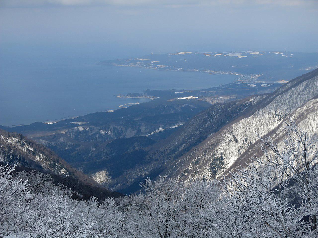 最後の急登から岩崎