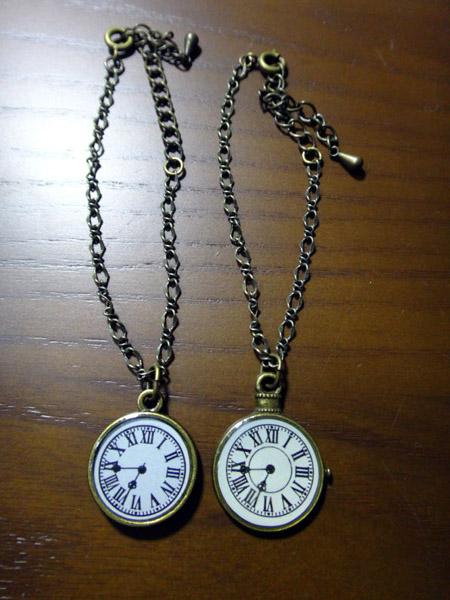時計ネックレス