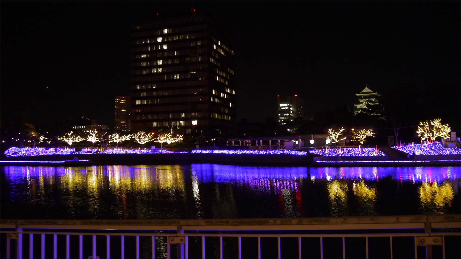 紫川のクリスマスイルミ