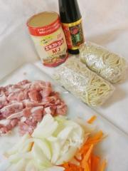 朝日屋麺で焼きそば (1)