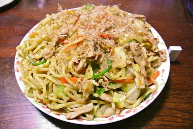 朝日屋麺で焼きそば (2)