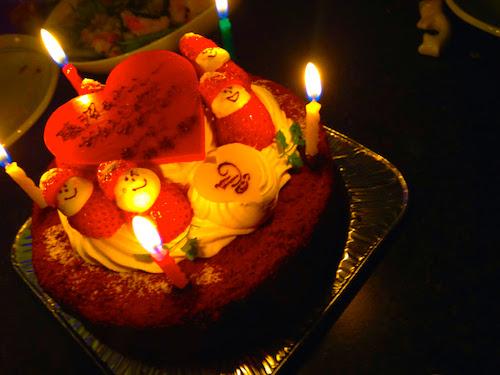 予約第1号のケーキ