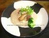 鶉と鴨ミンチのロースト マッシュルームソースのカプチーノ仕立て