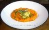 モリーニ茸とポルチーニ茸のトマトリゾット 桜衣の春野菜のフリット添え