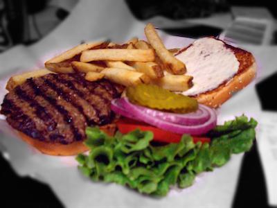 一食目のハンバーガー
