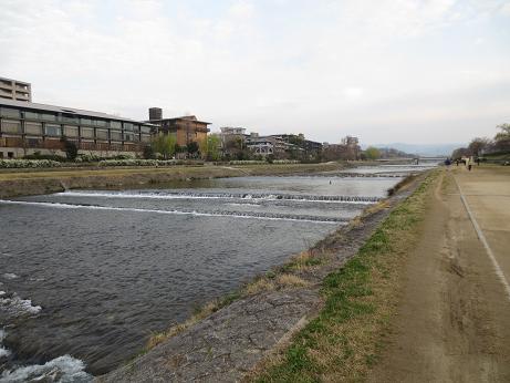 京都鴨川朝のジョギング