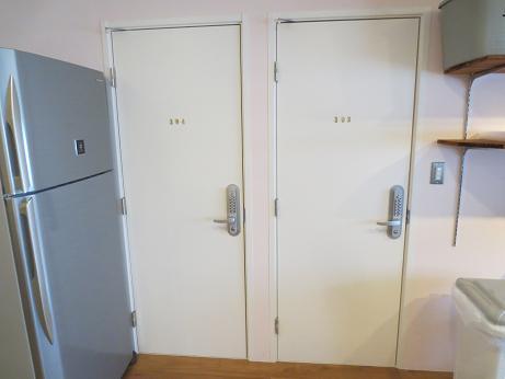 雑司ヶ谷シェアハウス扉冷蔵庫