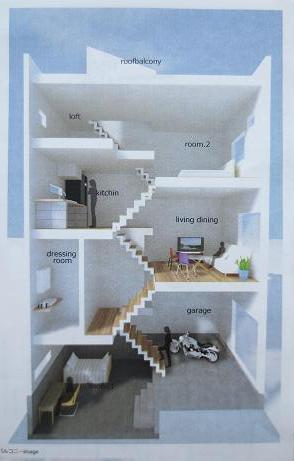 府中アパート断面図2