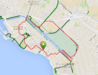 ランニング運河公園地図