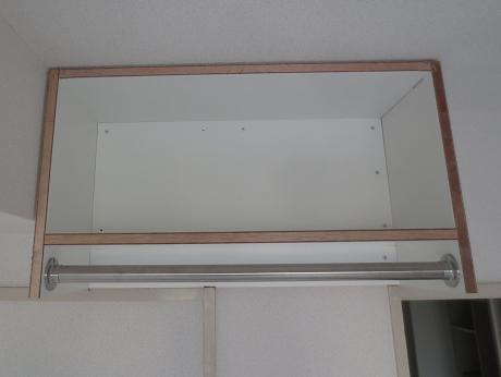 空中棚オープンクローゼット設置