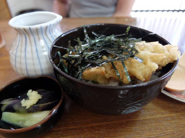 天ぷら出し茶漬け