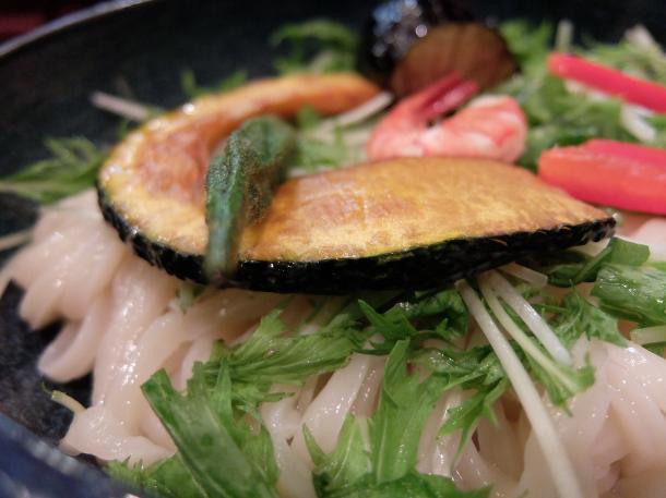 夏野菜と海老塩つけ麺