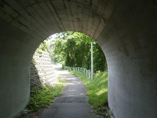 トンネルから見た。
