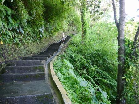 アユン川 階段