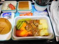 ガルーダ帰国便機内食 洋食
