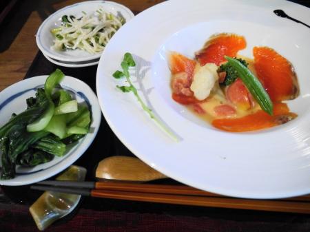 前菜と大鱒