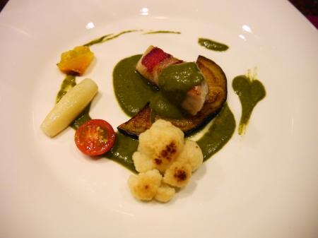 シーフードと野菜