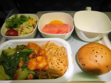 大韓航空2回目の機内食