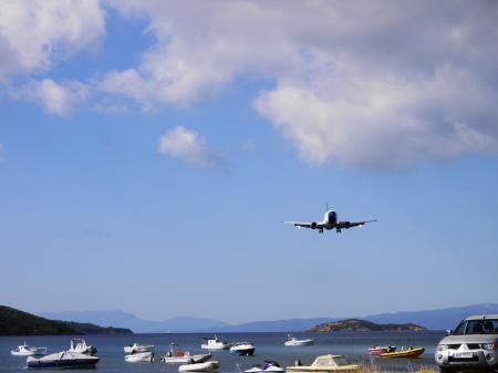 スキアソス 飛行機