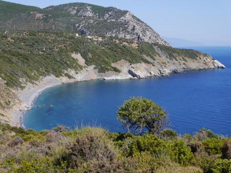 スキアソス東側のビーチ