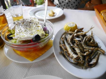 アンチョビフライの昼食