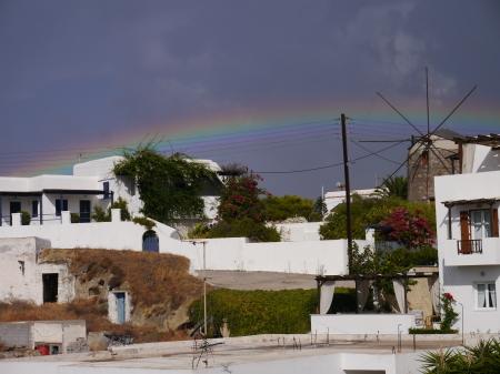 豪雨の後の虹