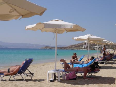 プロコピオスビーチ パラソル