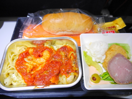 アエロフロートモスクワ行 2回目の機内食