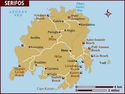 セリフォス島地図