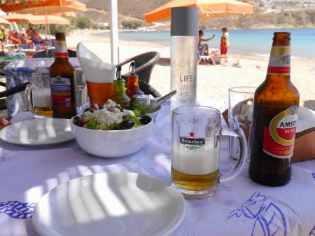 リバディビーチの昼食