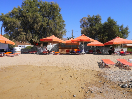 リバディビーチのパラソル