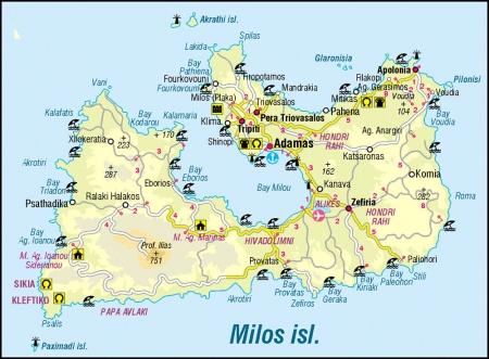 ミロス島地図