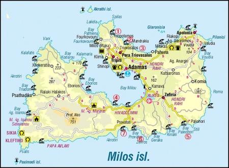 ミロス島のビーチ