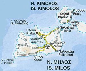 キモロス島地図