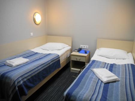 モスクワ空港カプセルホテルの部屋