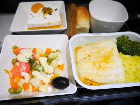 モスクワ成田線機内食