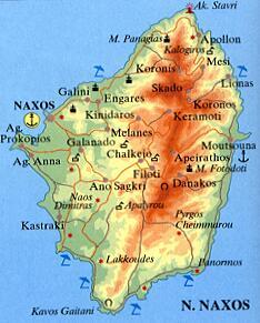 ナクソス島地図